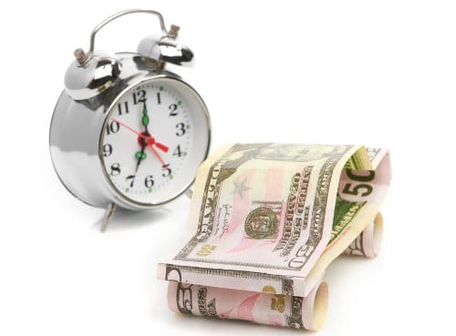 budzik i pieniądze