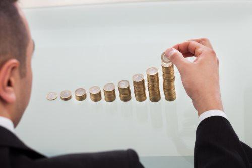 wykres z pieniążków